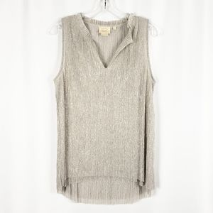 ANTHRO VANESSA VIRGINIA shimmery sleeveless top